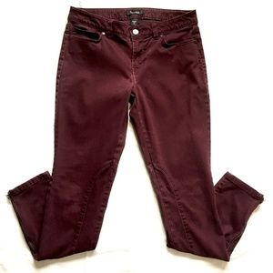 WHBM Skinny Leg Wine Colored Jean